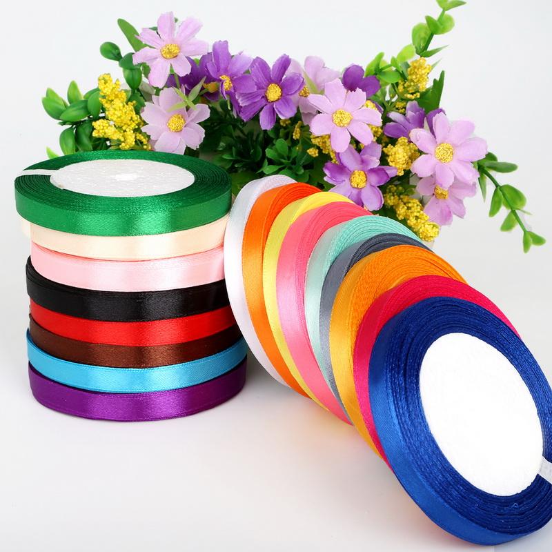 Cuộn dây ruy băng vải 1cm (có nhiều màu)