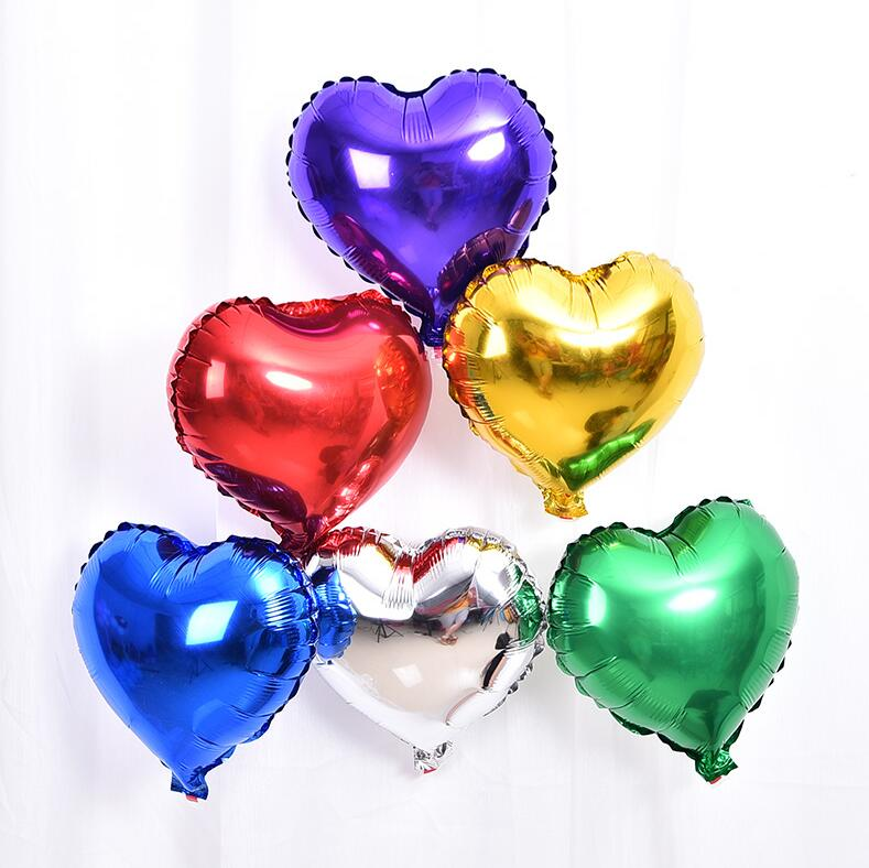 Bong bóng kiếng trái tim cỡ trung 25cm (có nhiều màu)