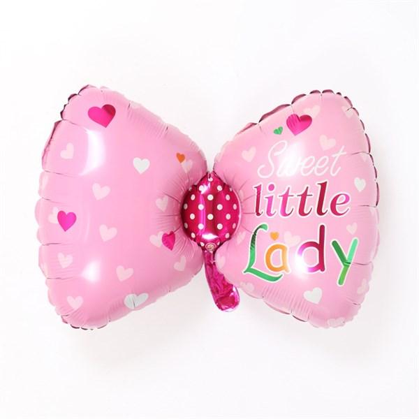 Bong bóng kiếng Nơ Hồng Little Lady 88cm