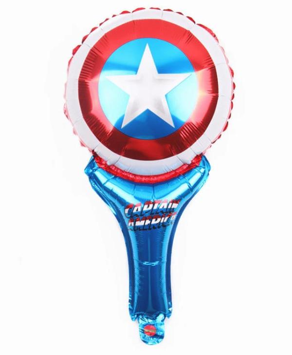Bong bóng kiếng cầm tay hình Khiên Captain American