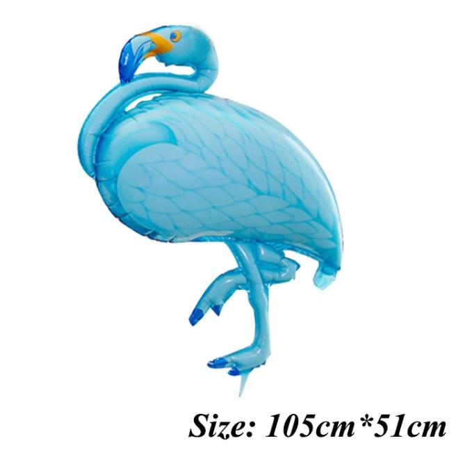 Bong bóng kiếng con Hạc khổng lồ 105cm (Xanh/Tím)