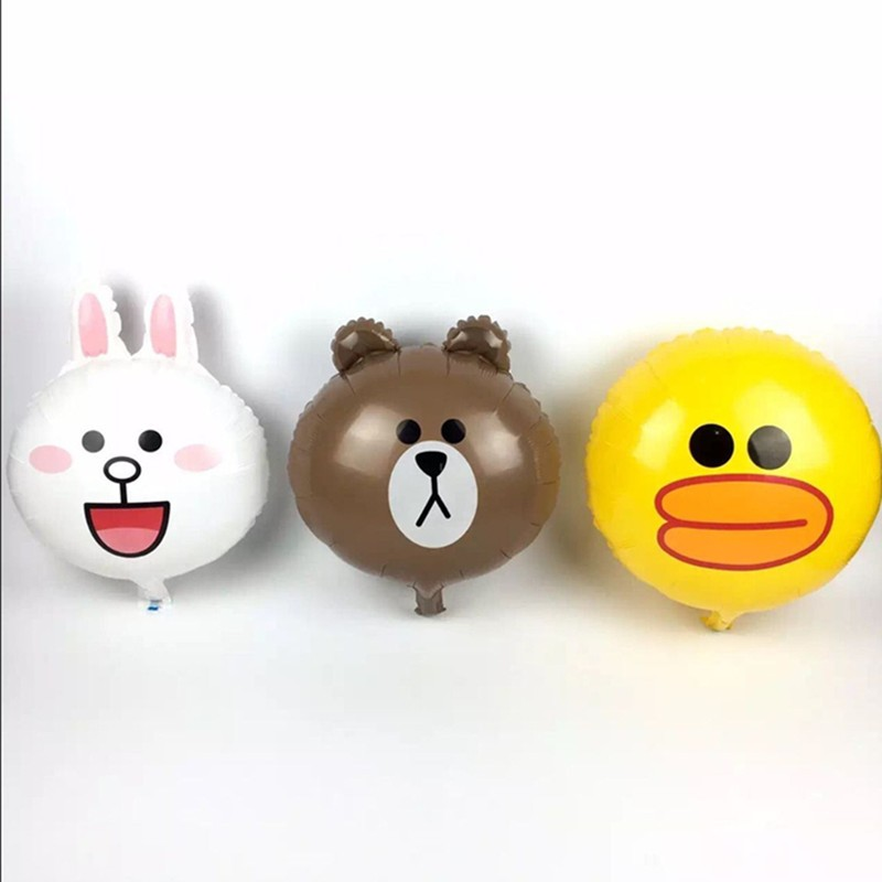 Bong bóng kiếng mini đầu Gấu Brown/Thỏ Cony/Vịt Sally 38cm