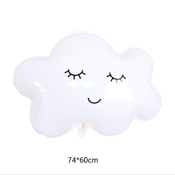 Bong bóng kiếng hình Mây Trắng 74cm