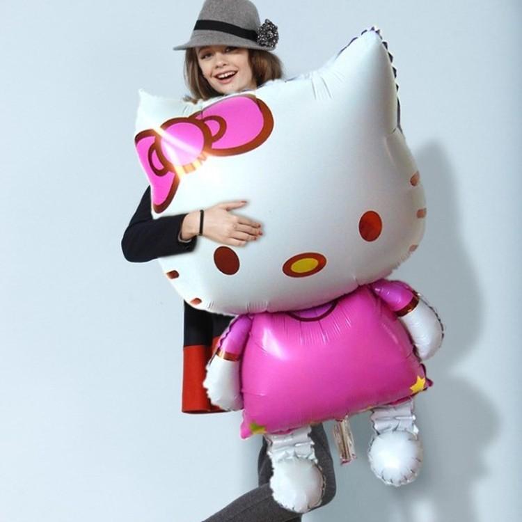 Bong bóng kiếng Hello Kitty khổng lồ 116cm
