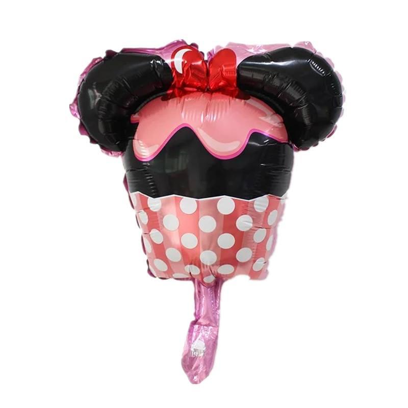 Bong bóng kiếng mini hình cupcake Minnie
