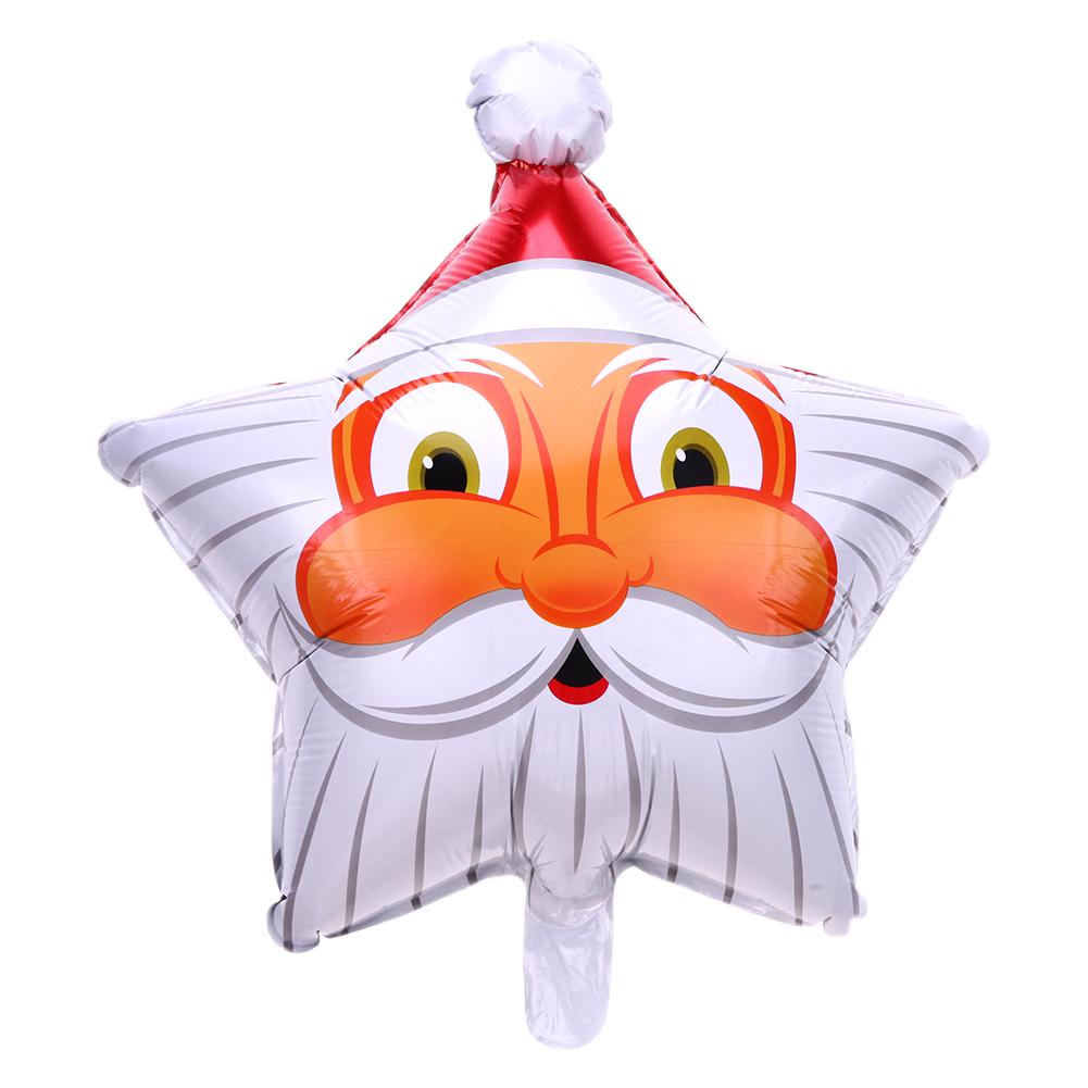 Bong bóng kiếng hình Ngôi sao Ông già Noel 45cm