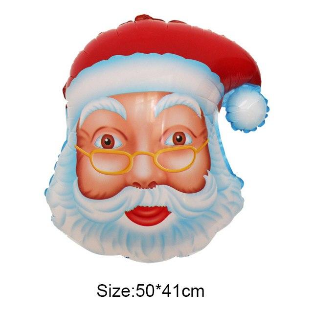 Bong bóng kiếng hình đầu ông già Noel