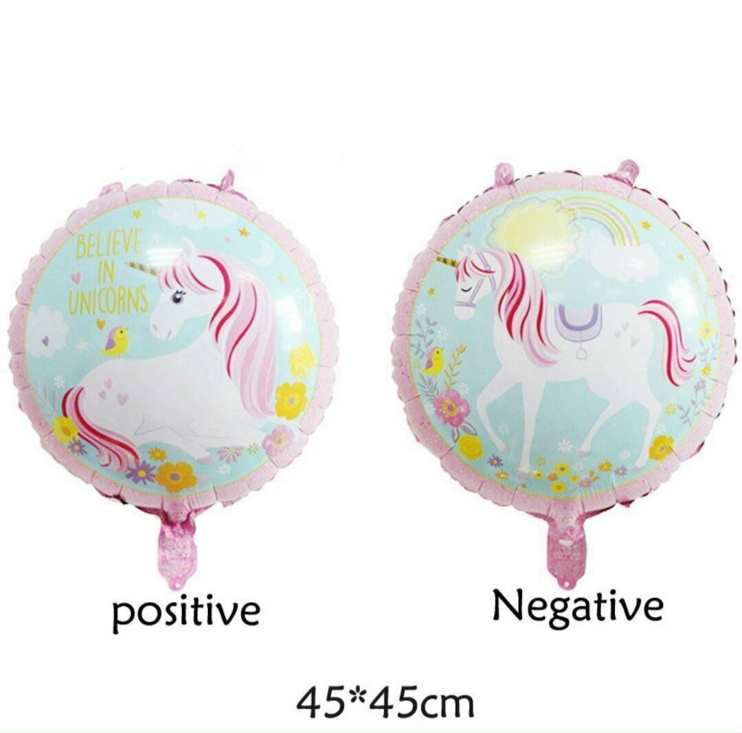 Bong bóng kiếng tròn Unicorn 45cm