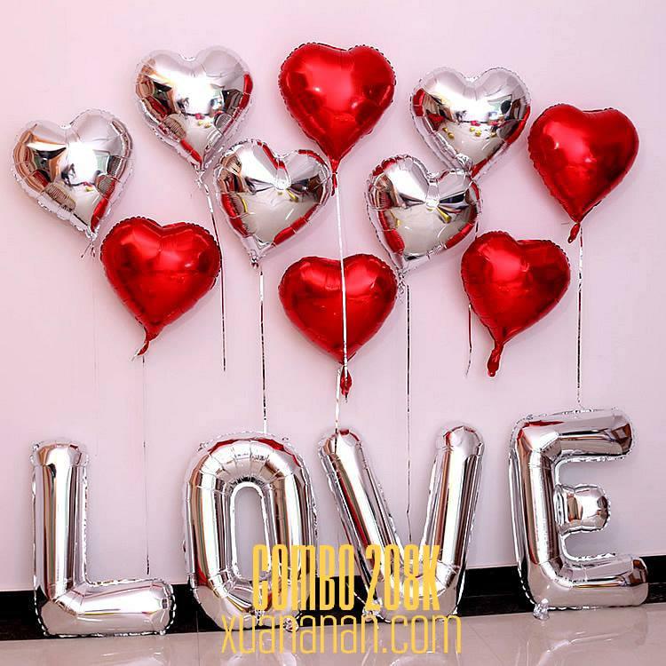 Combo trang trí chữ LOVE tùy chọn màu [208K]