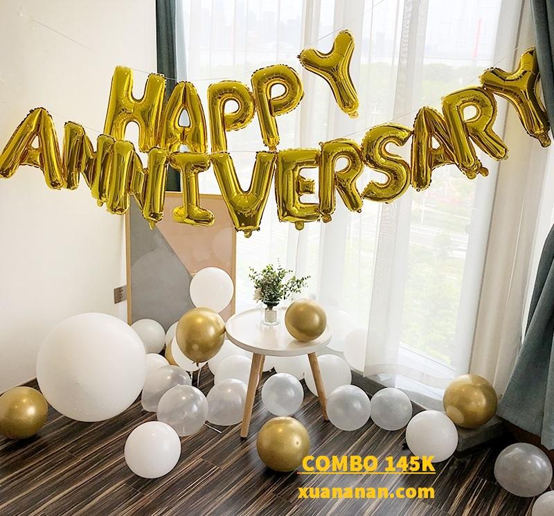 Combo trang trí tiệc kỷ niệm Anniversary [145K]