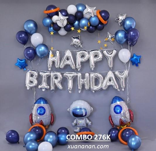 Combo trang trí sinh nhật chủ đề Phi Hành Gia [276K]