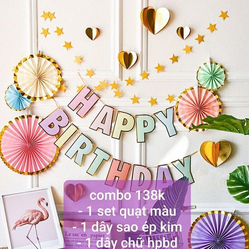 Combo trang trí sinh nhật 3 món [138K]