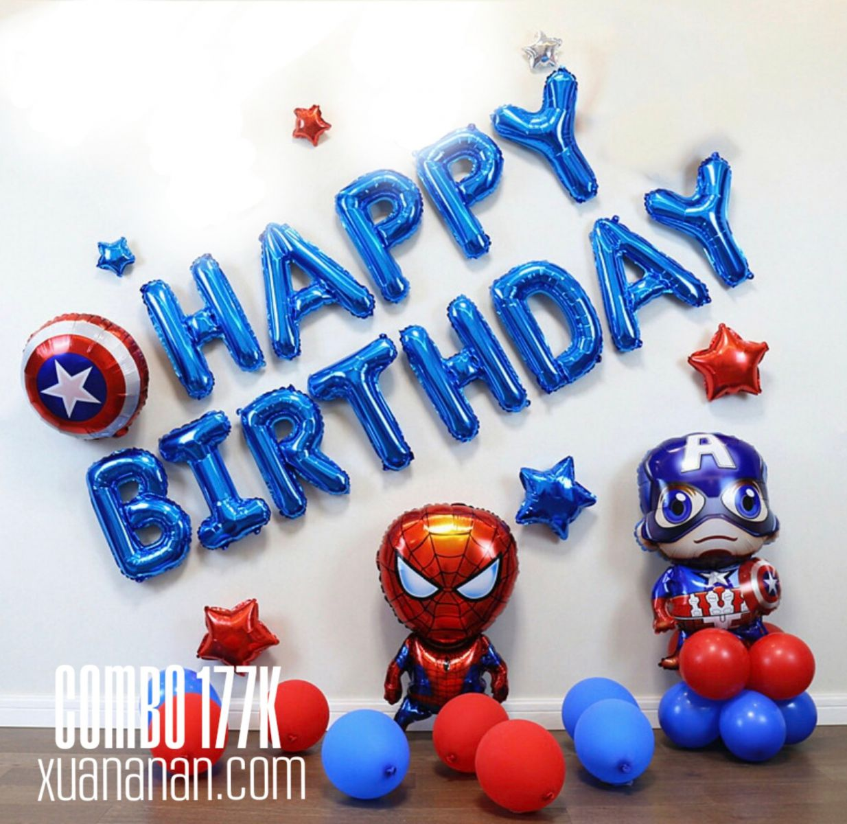 Combo trang trí sinh nhật Captain American [177K]