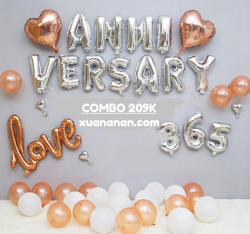 Combo trang trí tiệc kỷ niệm Anniversary [209K]