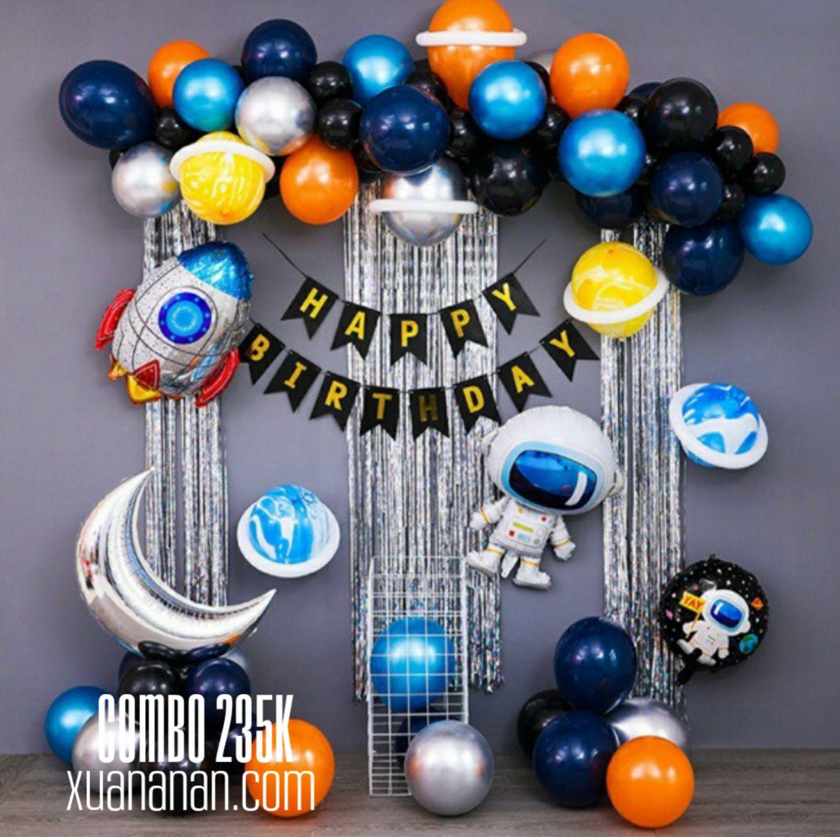 Combo trang trí sinh nhật Phi hành gia [235K]