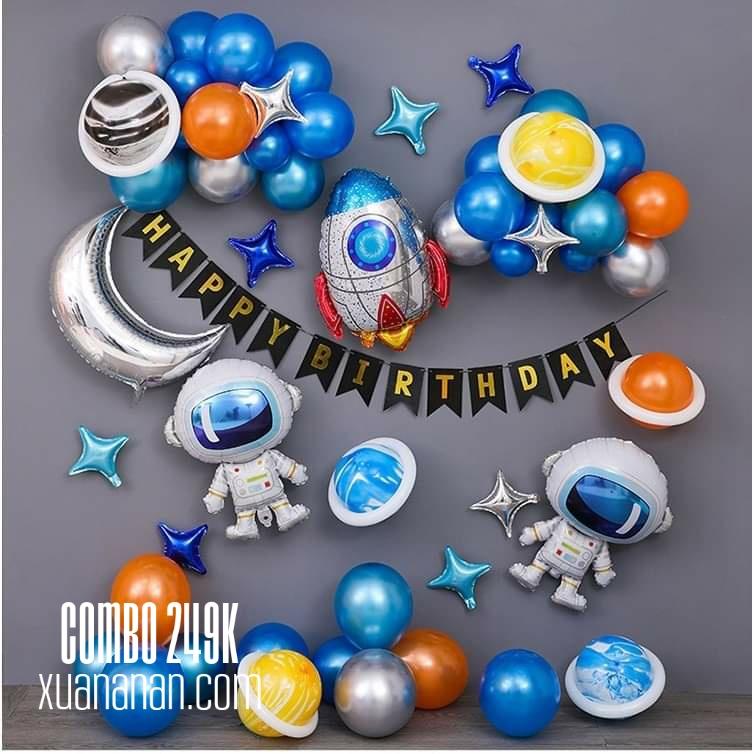 Combo trang trí sinh nhật phối Phi Hành Gia [249K]