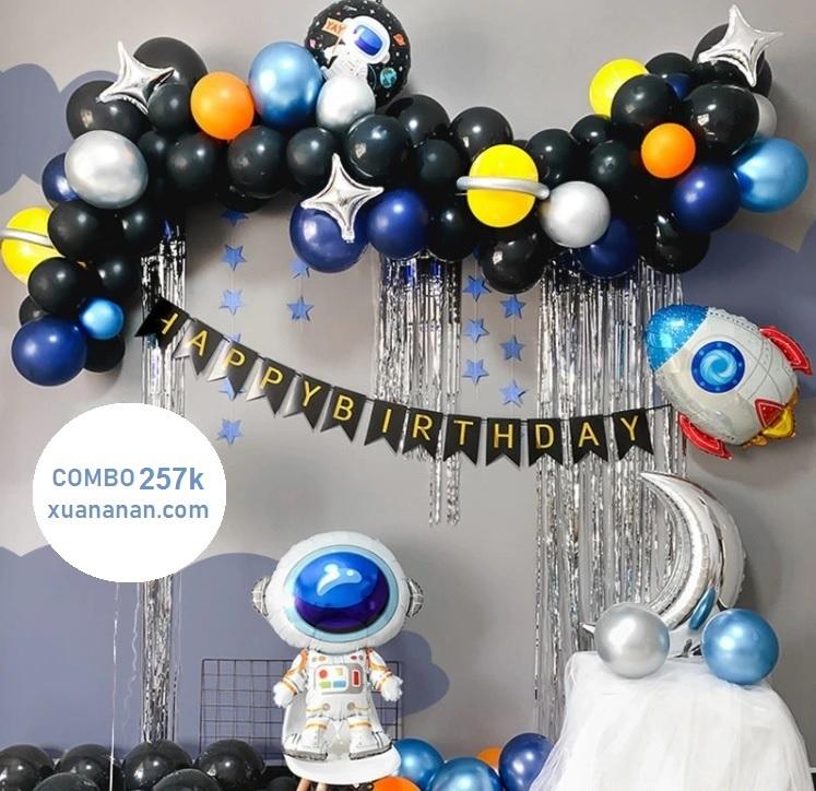 Combo trang trí sinh nhật chủ đề Phi Hành Gia [257K]