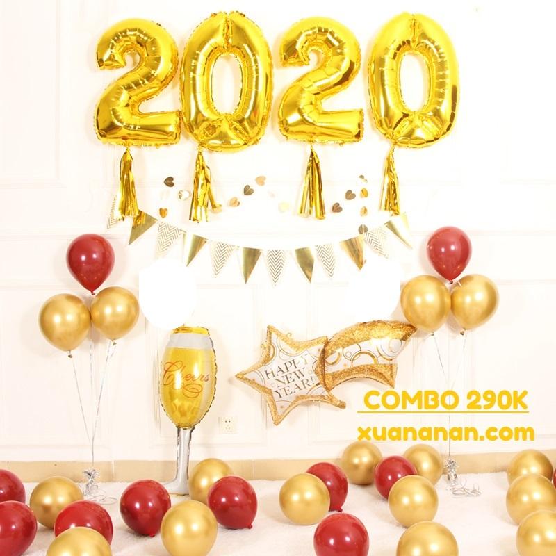 Combo bong bóng trang trí năm mới 2020 [290K]