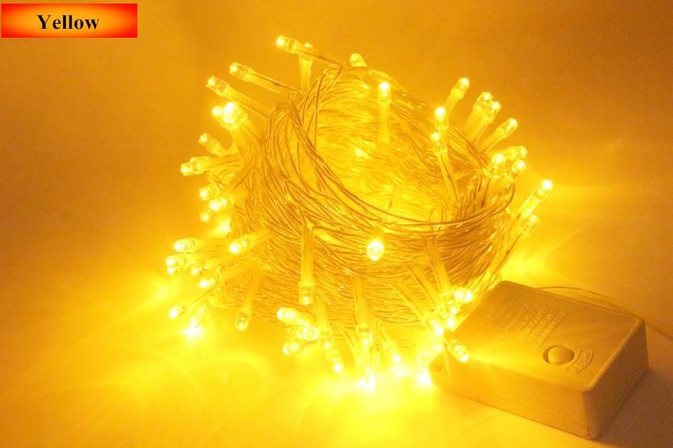 Dây đèn mưa 10m - 100 led vàng ấm