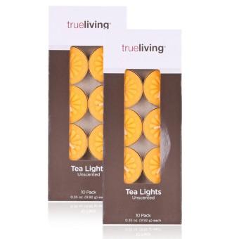 Vỉ 10v nến tealight bông mai màu vàng 3,5cm