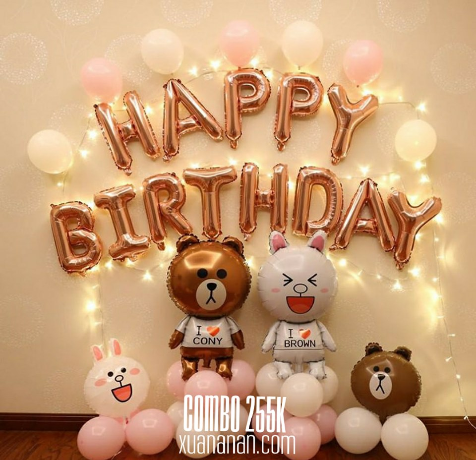 Combo trang trí sinh nhật Cony Brown [255K]