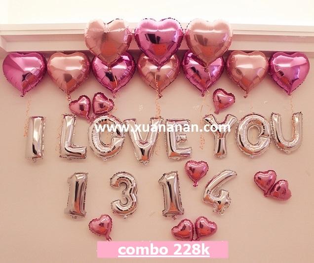 Combo trang trí I LOVE YOU [228K]