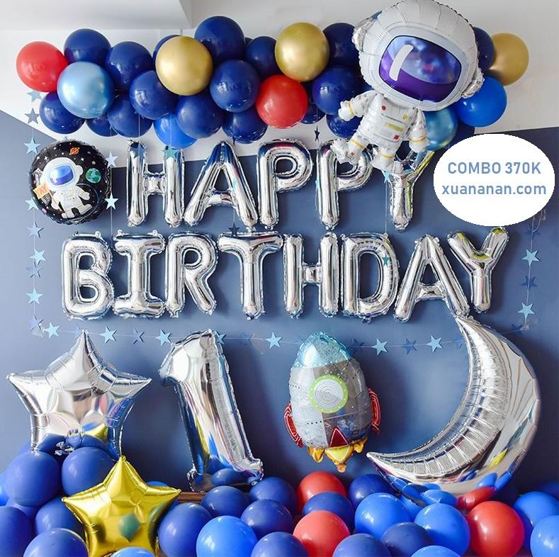 Combo trang trí sinh nhật chủ đề Phi Hành Gia [370K]