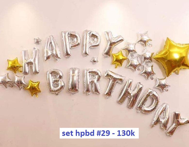 Set bong bóng kiếng trang trí sinh nhật #29