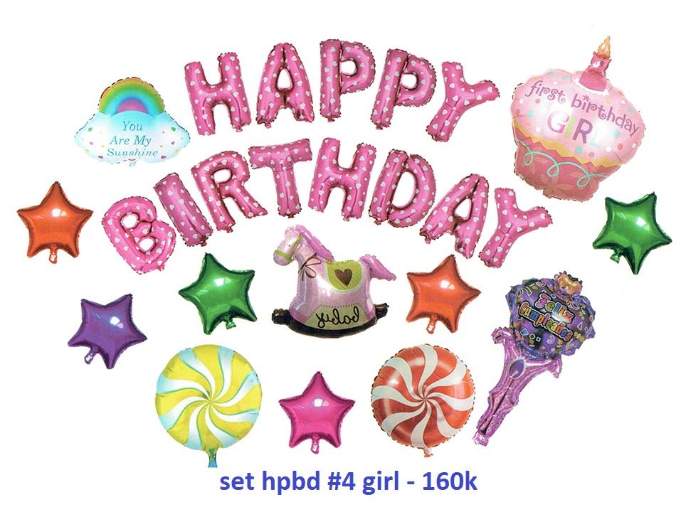 Set bong bóng kiếng trang trí sinh nhật #4 (girl/boy)