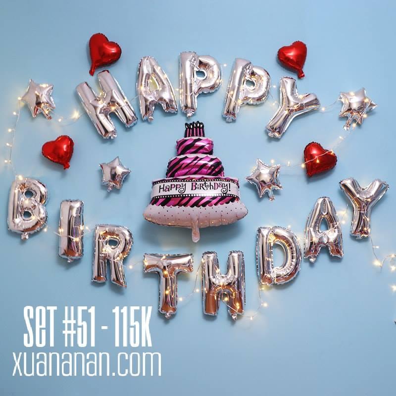Set bong bóng kiếng trang trí sinh nhật #51