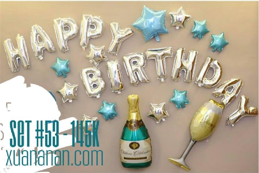 Set bong bóng trang trí sinh nhật #53