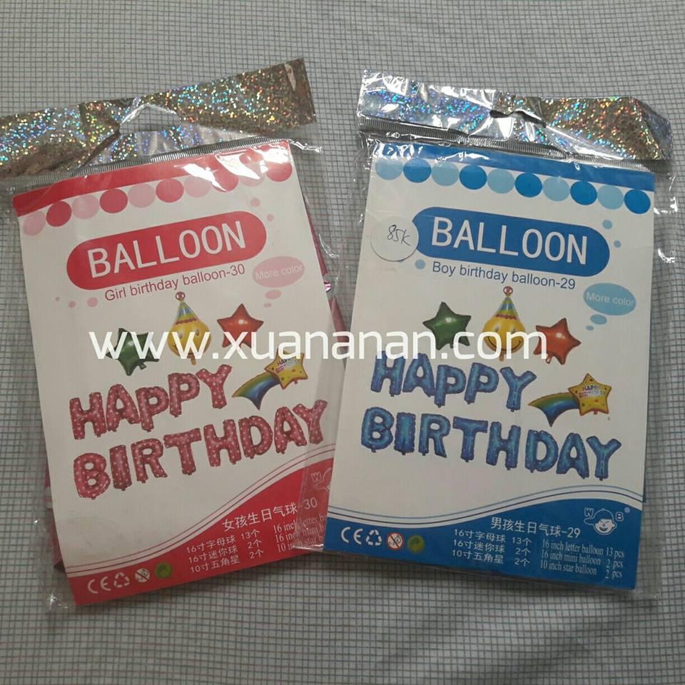 Set bong bóng kiếng trang trí sinh nhật #2 (boy/girl)