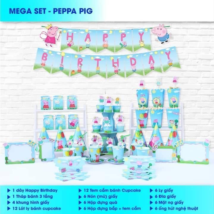 Set trang trí sinh nhật Peppa Pig