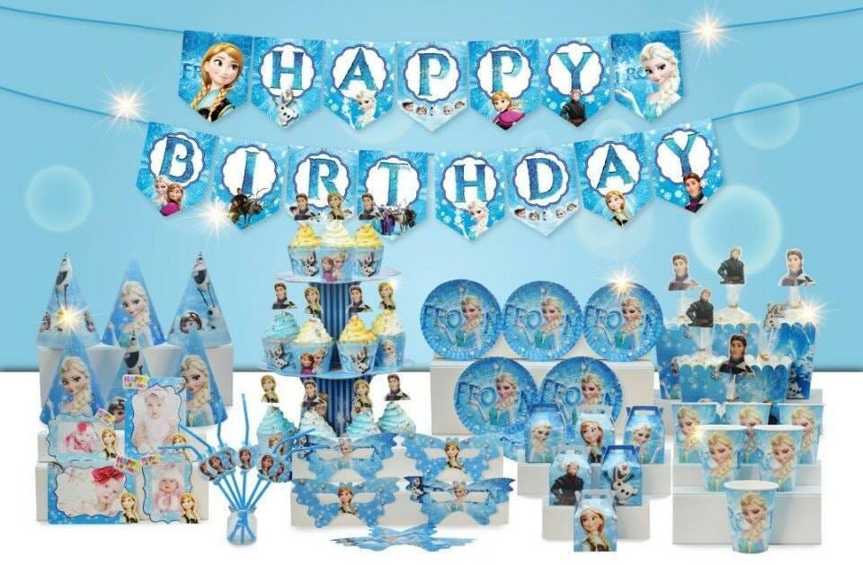 Set trang trí sinh nhật Frozen (Elsa)