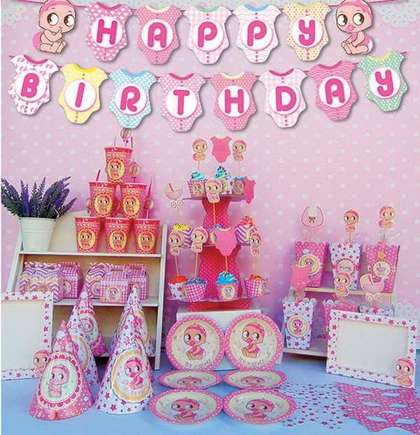 Set trang trí sinh nhật Baby Girl