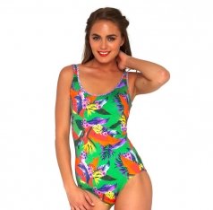 BAKU TROPICAL SCOOP NECK SWIMSUIT MAILLOT