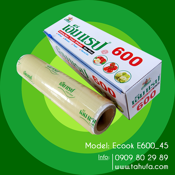 Màng bọc thực phẩm Ecook E600 - 45cm